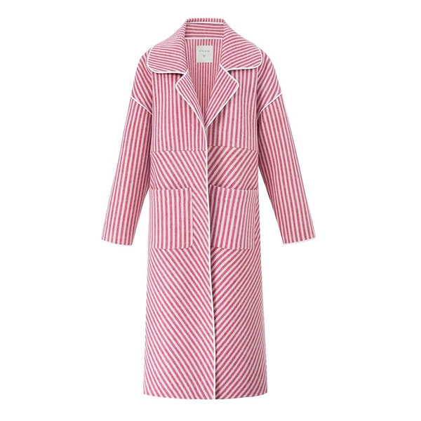 Candy Strip Wool Coat