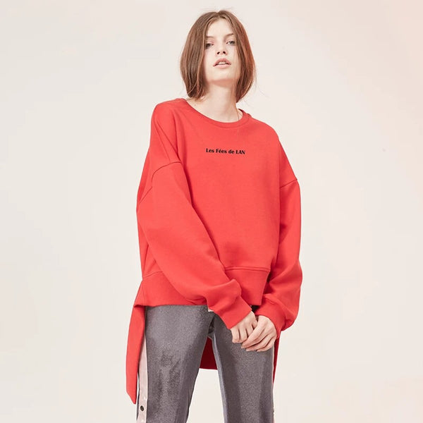 Asymmetric Design Sweatshirt