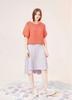 Puffy Short Sleeve Knit Sweater