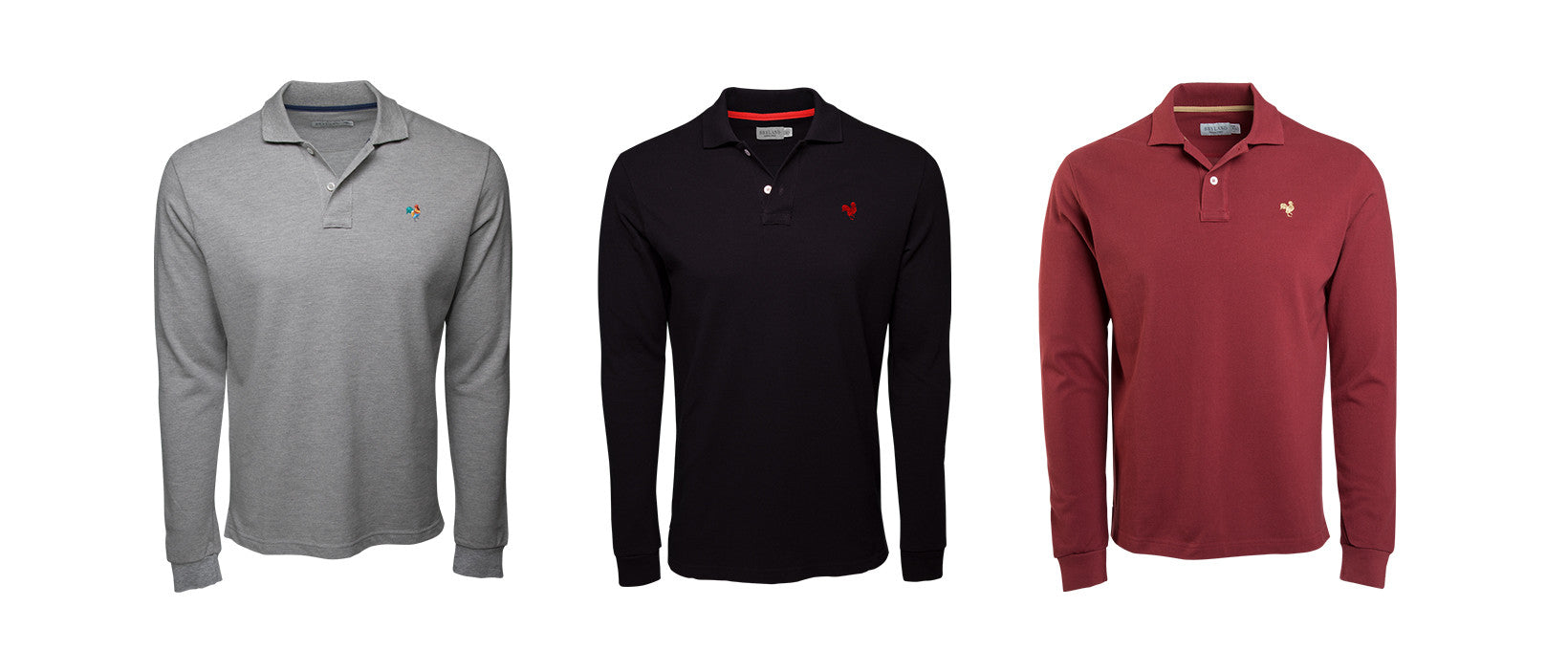 Our collection includes long sleeve polo shirts for Spring/Summer