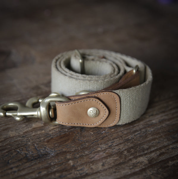 Khaki and Light Brown Leather Belt