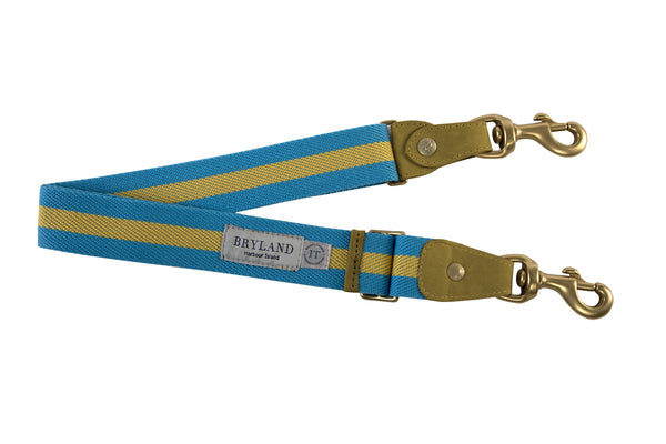 Bahamian Stripe - Italian Leather Belt - Bryland