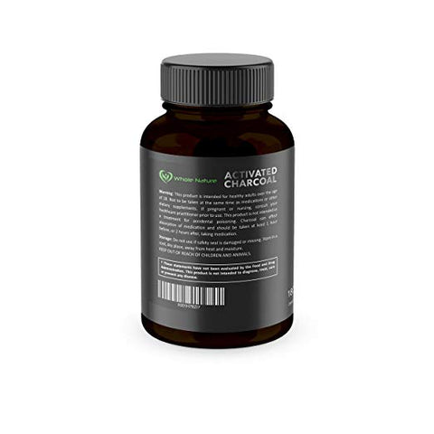 Whole Nature Organic Coconut Activated Charcoal Capsules, - Whole Nature Vitamins & Supplements