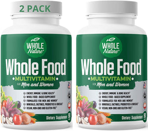 Whole Nature Whole Food Multivitamin for Men & Women-2Pack