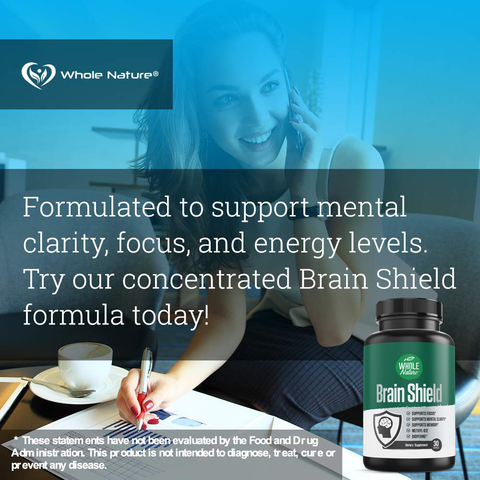 Whole Nature Brain Shield Supplement - Whole Nature Vitamins & Supplements