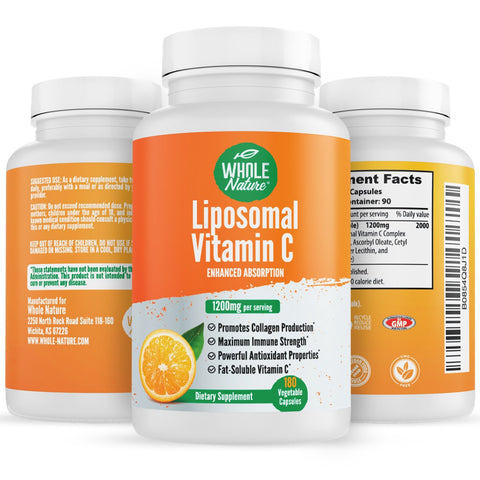 Image of Whole Nature Liposomal Vitamin C 1200 mg