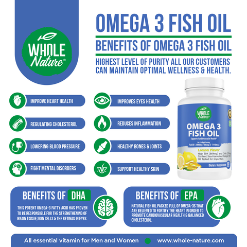 Image of Whole Nature Omega 3 Fish Oil 2400mg