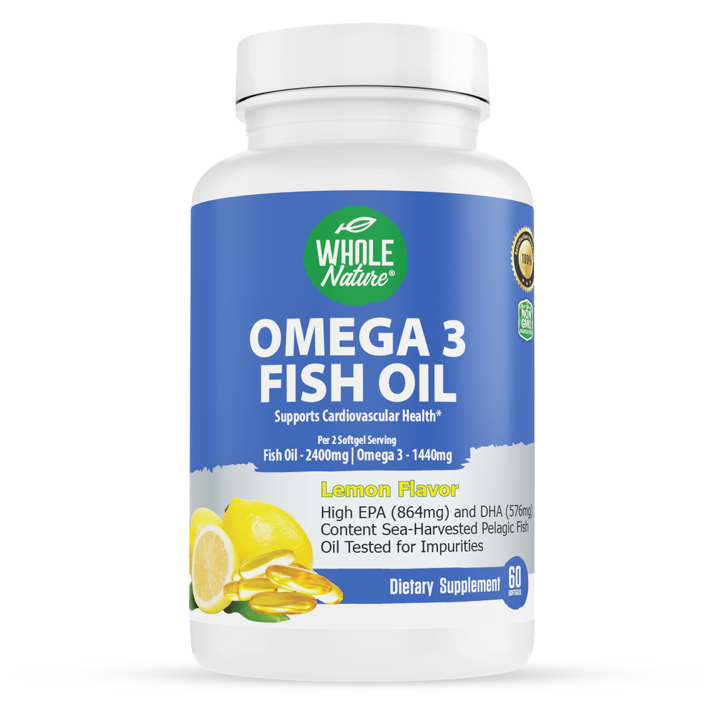 Whole Nature Omega 3 Fish Oil 2400mg