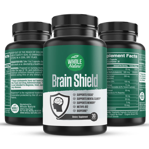 Image of Whole Nature Brain Shield Supplement - Whole Nature Vitamins & Supplements