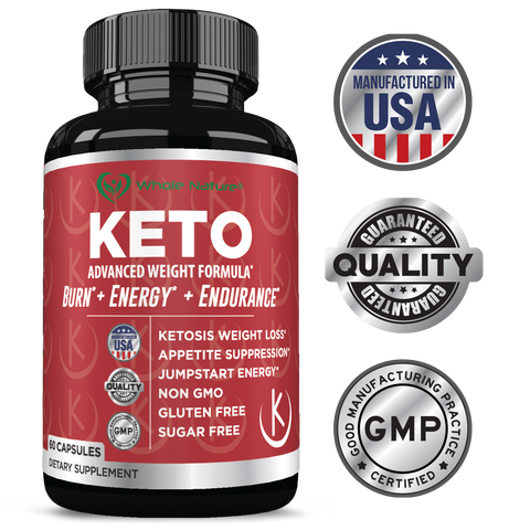Image of Keto Weight Loss Diet Pills: Rapid Fat Burner, Metabolism and Energy Ketosis Supplement Pill for Men and Women - All Natural Gluten/Sugar Free Supplements with Raspberry Ketones - 60 Veggie Capsules