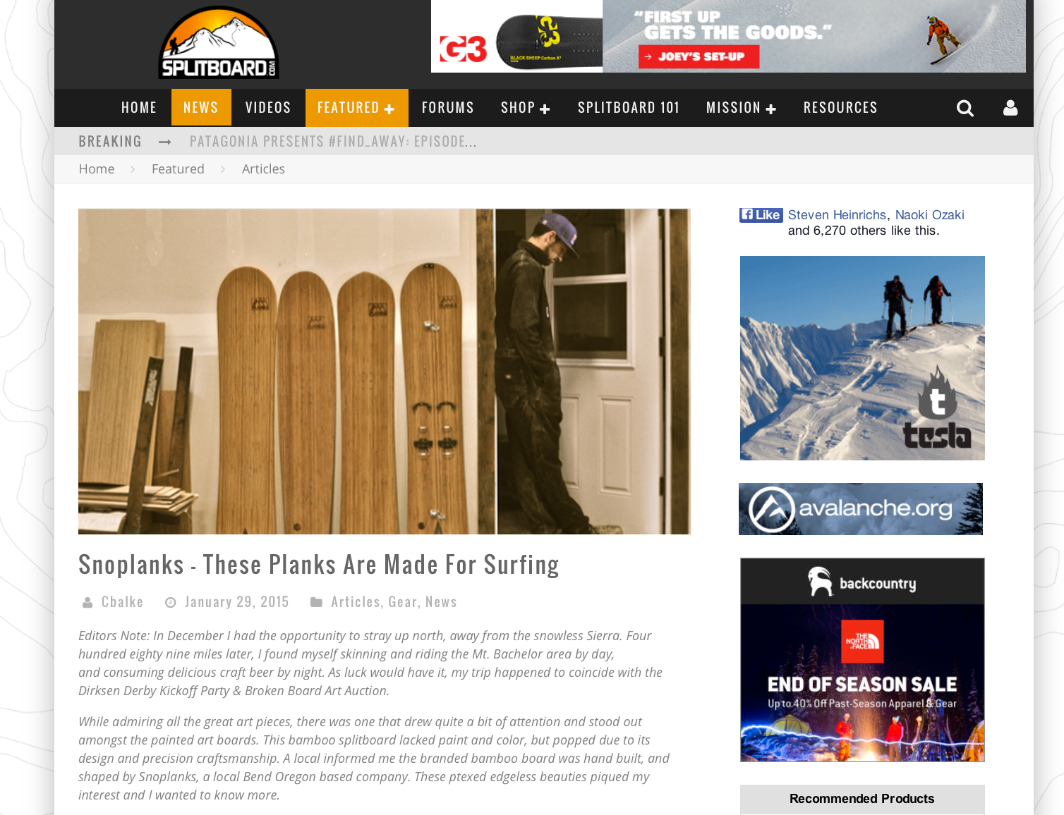 Splitboard.com SnoPlanks Interview