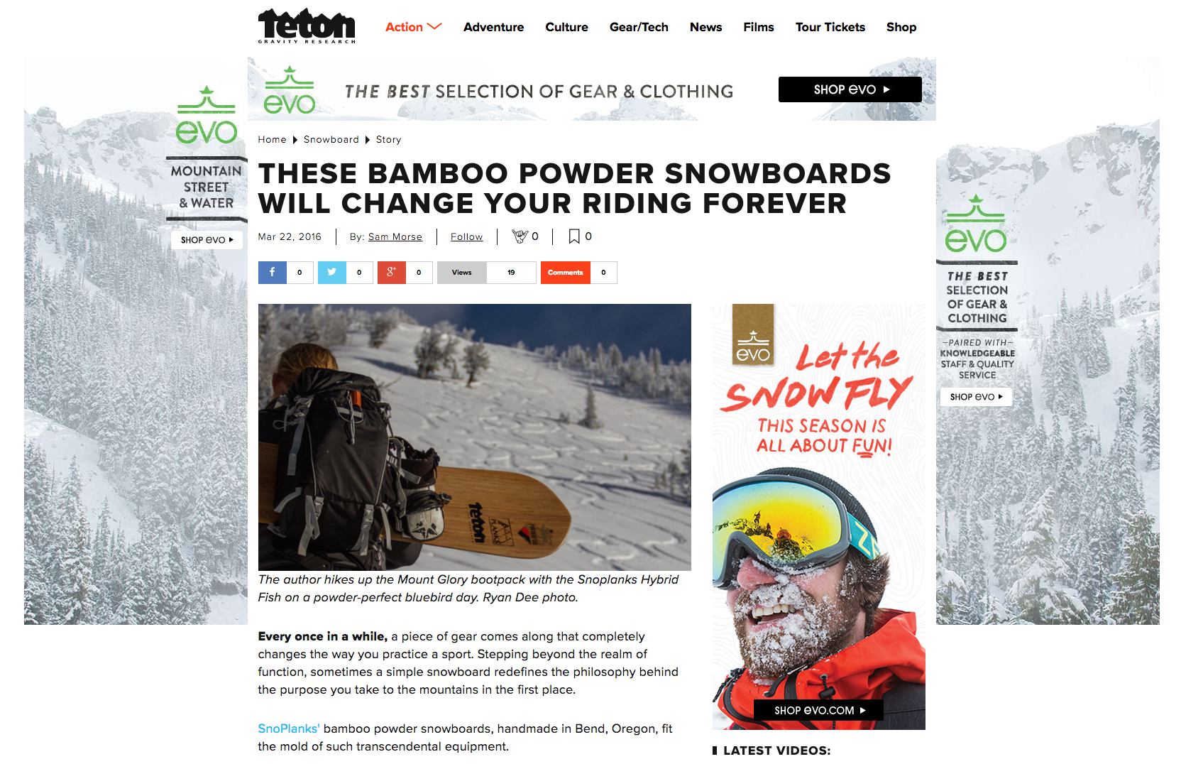Teton Gravity Research Reviews SnoPlanks Powder Snowboards