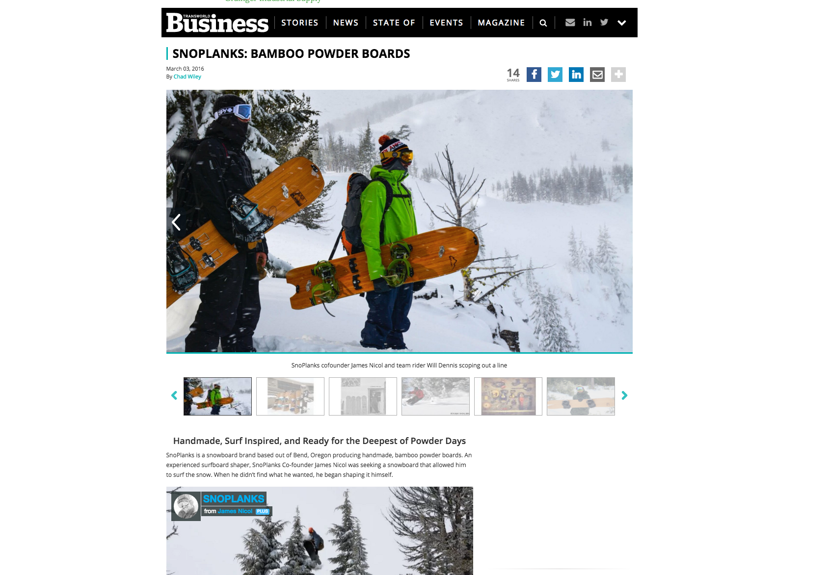 Transworld Business Interviews SnoPlanks
