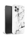 White Polished Marble iPhone Case
