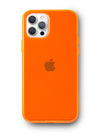 Neon Orange Crystal Clear iPhone Case