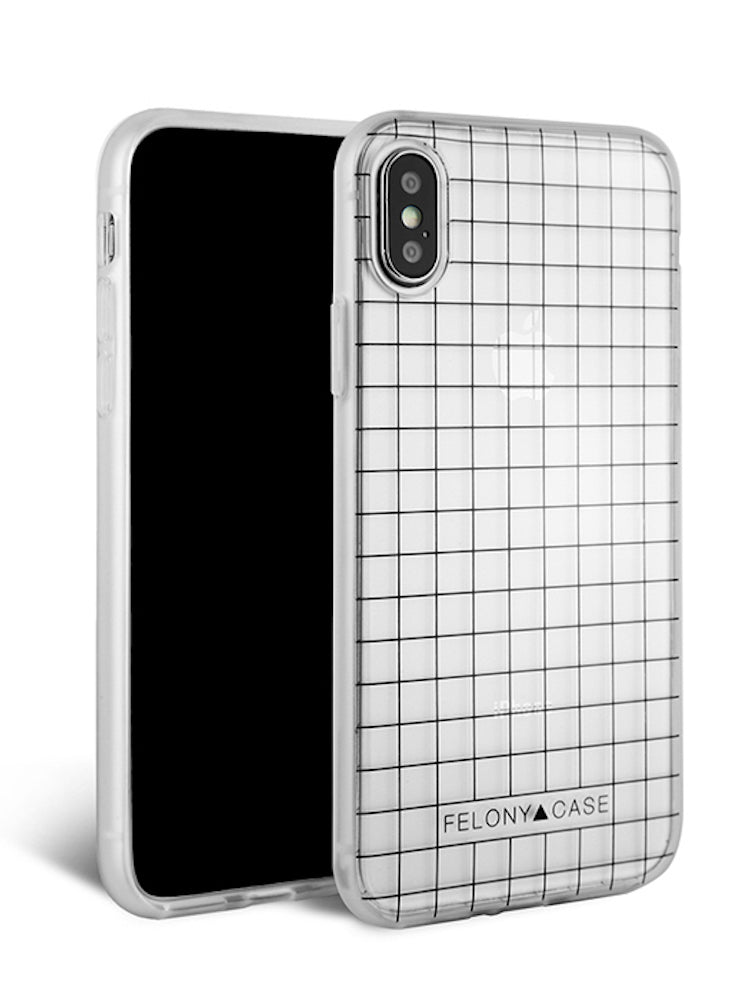 brand new b5612 48edc Black Grid iPhone Case for iPhone X/XS, 6/7/8, 6+/7+/8+