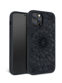 Matte Black Kaleidoscope iPhone Case