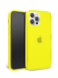 Neon Yellow Crystal Clear iPhone Case