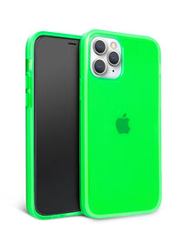 Neon Green Crystal Clear iPhone Case