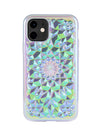 Clear Cosmic Holographic Kaleidoscope iPhone Case