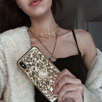 Gold Kaleidoscope iPhone Case - SALE