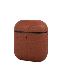 Brown Pebbled Leather AirPods Case