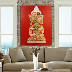 Meditating Buddha, Original Painting by Amalakaa