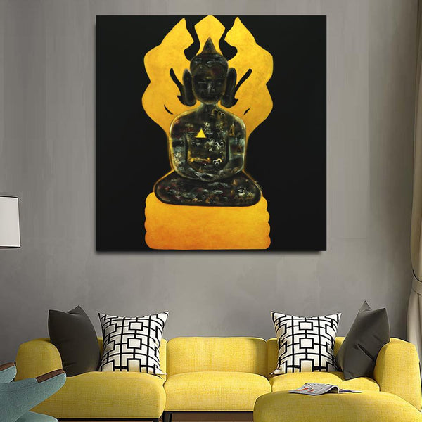 Naga King Protection, Original Painting by Amalakaa
