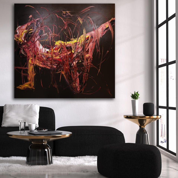 Live Emotion II, Original Painting by Worapol