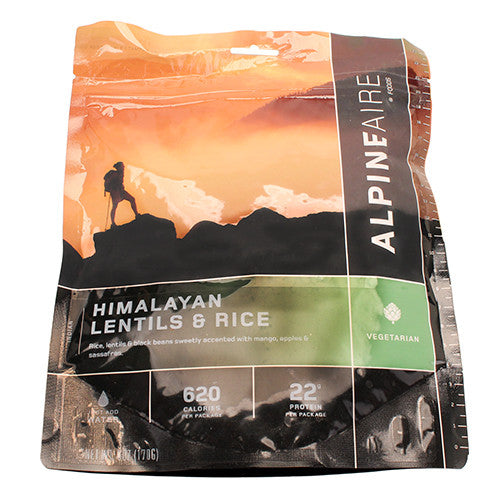 Alpine Aire Foods Himalayan Lentils & Rice Serves 2