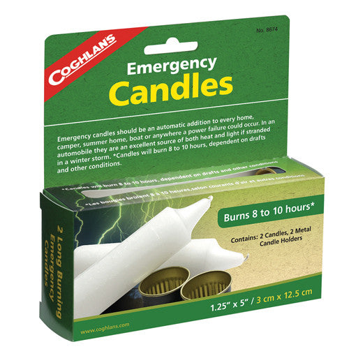 Coghlans Emergency Candles -- Package of  2