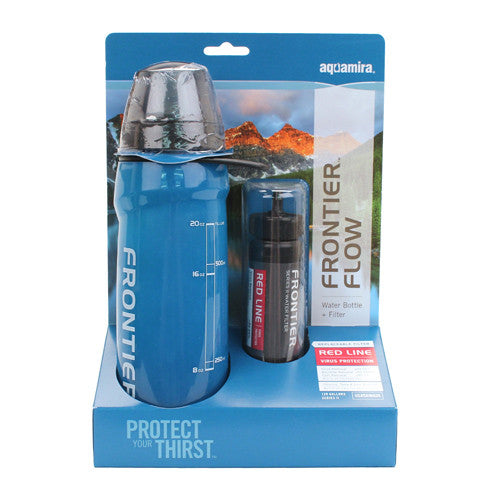 Aquamira Frontier Filtered Water Bottle Red II 120