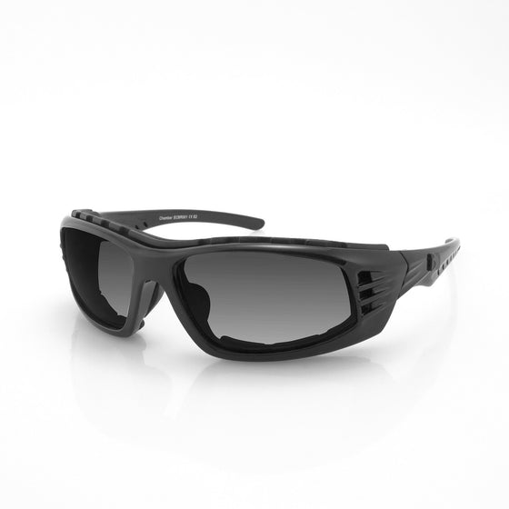 Bobster Chamber Sunglasses-Black Frame with Smoked Lenses