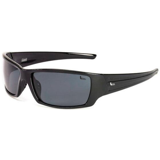 60ee8b23c6 Coleman Saber-Black with Matte Black Stripes Smoke Lens