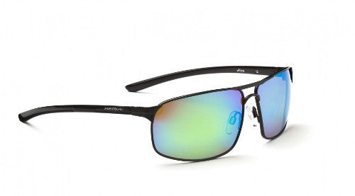 Optic Nerve Alloy Sunglasses Black/Plrzd Brwn Zaio Grn