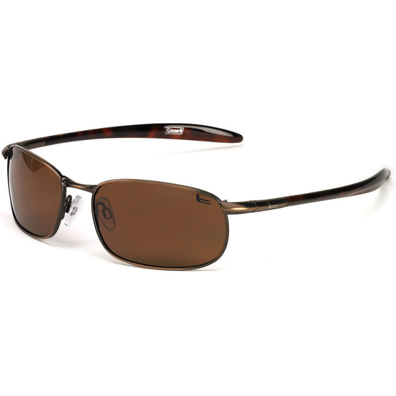 Coleman Roadster-Brown w/Trans Temples/Blue Mirror Lens
