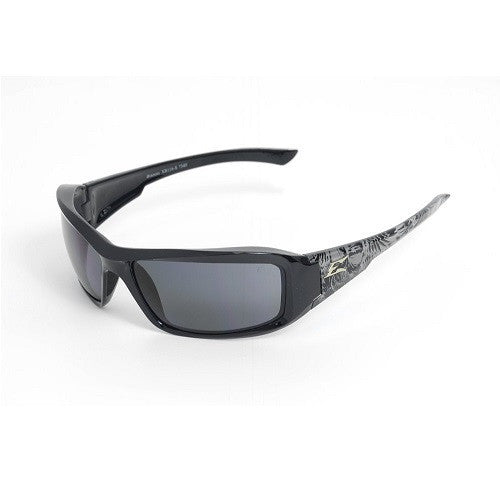 Edge Eyewear Brazeau Blk Shark Frame Polarized Smoke Lens