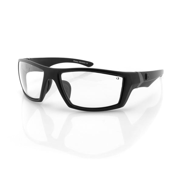 Bobster Whiskey Ballistic Sunglass-Blk Frame-Anti-fog Clear