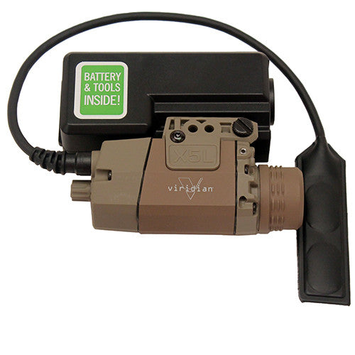 Viridian Green Lasers Universal Mount Green Laser w/Tactical Light 160/190 Lumens Flat Dark Earth