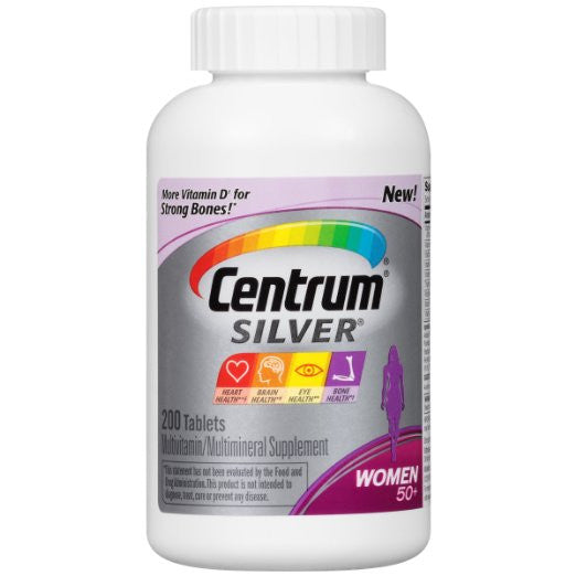 Centrum Silver Women Multivitamin / Multimineral Supplement Tablet, Vitamin D3 (200 Count) (Pack of 2)