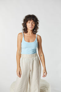 Terry Kirby Singlet Top - Baby Blue