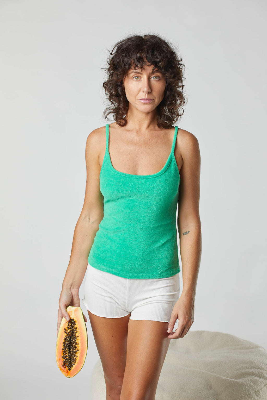 Terry Kirby Singlet Top - Kiwi Fruit