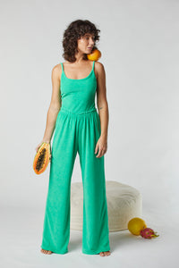 Terry Relaxed Pant - Kiwi Fruit