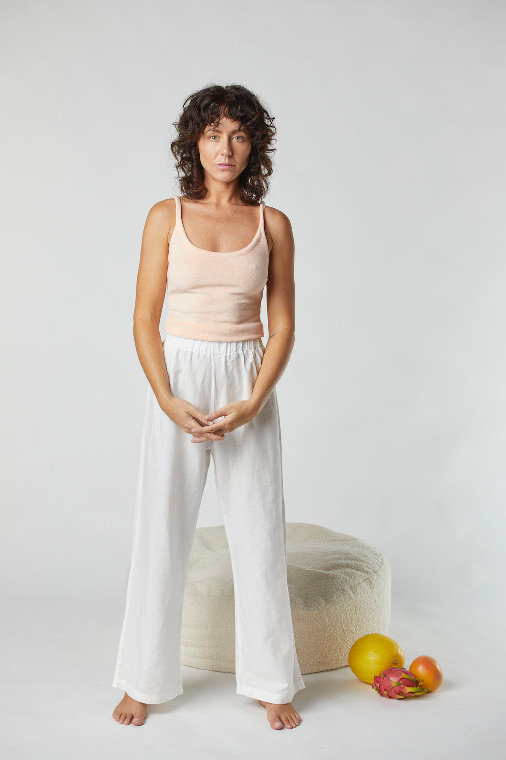 Terry Kirby Singlet Top - Apricot
