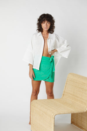Terry Wrap Skirt - Kiwi Fruit