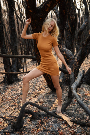 Abbie T-Dress Amber