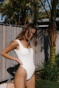 The 03 Thick strap Bodysuit - White