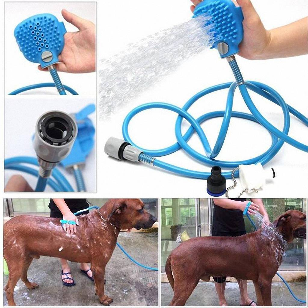 Pet Bathing Tool Comfortable Massager Shower Tool Cleaning