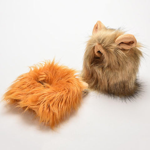 Cute Lion wig costume for cats