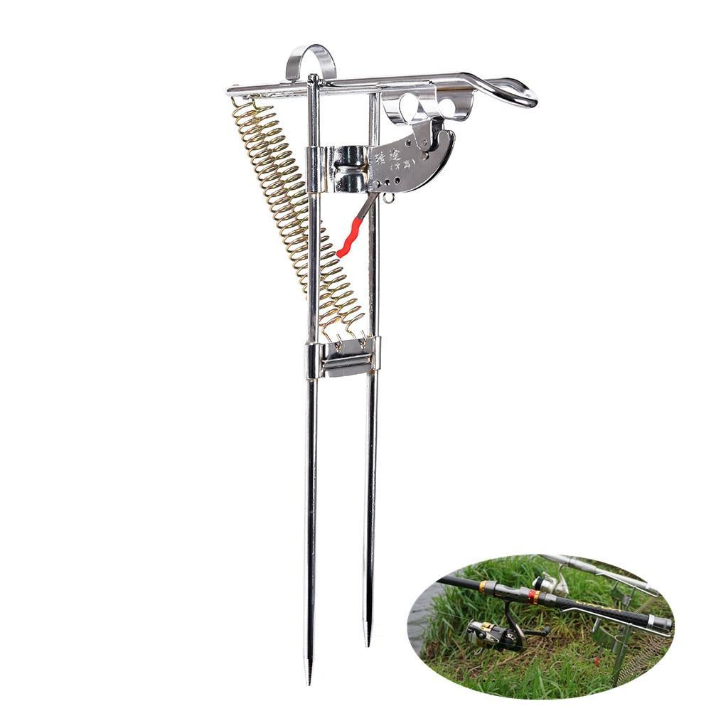 Stainless Steel Ground Support Fish Pole Rack